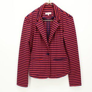 Kenar Red & Navy Stripe Blazer Jacket